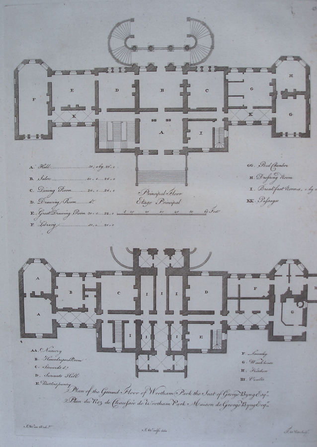 Plan Of The Ground Floor Of Wrotham Park