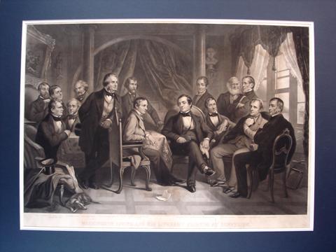 Barlow, Thomas Oldham (1824-1889)  Washington Irving and His Literary Friends at Sunnyside