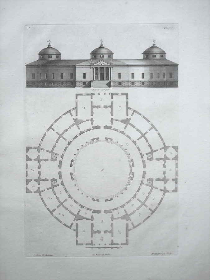 Elevation For Circular Plan : The plan and elevation of a large circular building