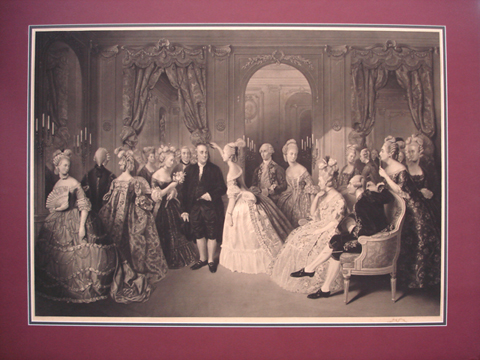 Geller, W.O of London after Baron Jolly, Brussels (1799-1883) ( Franklin's Reception at the Court of France, 1778)