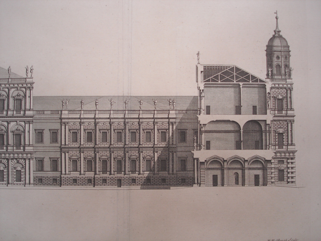 The Front of one side of Whitehall Palace, within the great Court