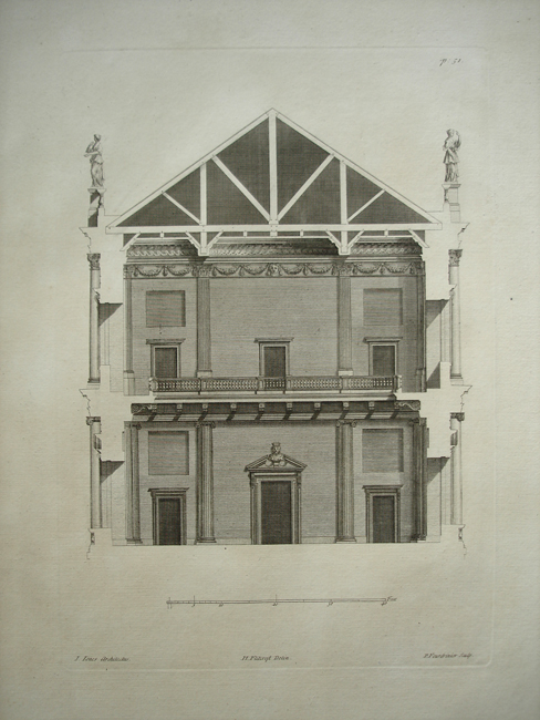 A Section of  the  Banquetting House at White Hall