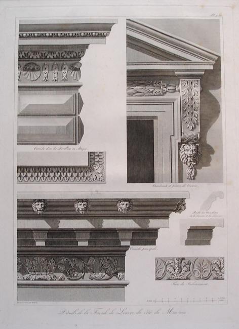 Details de la Facade du Louvre du Cote du Museum
