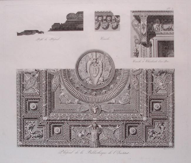 Plafond de la Bibliotheque de L'Institut