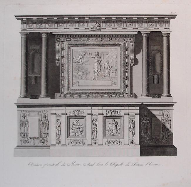 Elevation geometrale du Maitre-Autel dans la Chapelle du Chateau d'Ecouen