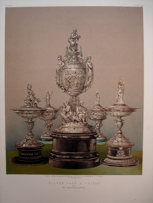 Silver Vase and Tazzas by Mr Hancock London