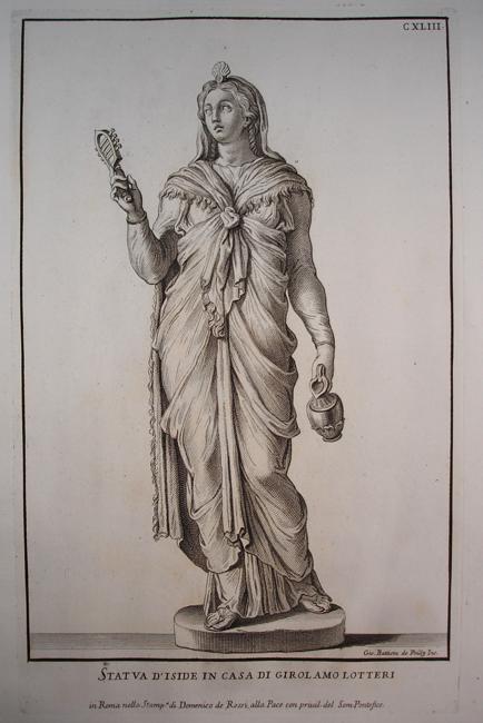 Statva D Iside in Casa Di Girolamo Lotteri