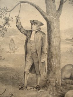 Unknown William Penn, (Left side of the print seems to be associated with the indian treaty, right side unknown)