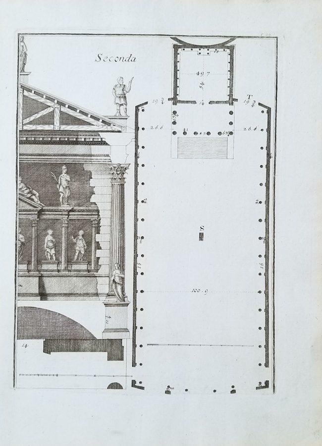 Antique Architectural Engraving, (after) Andrea di Pietro Gondola, Palladio