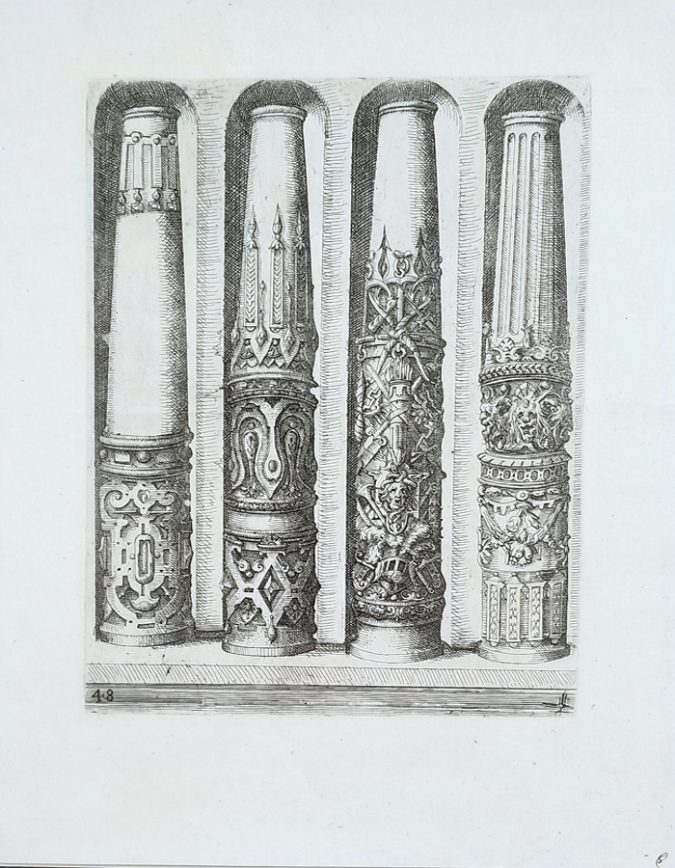 Fine Antique Architectural Etching