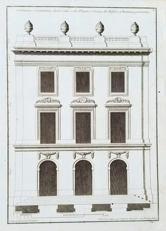 Fine Antique Architectural Print