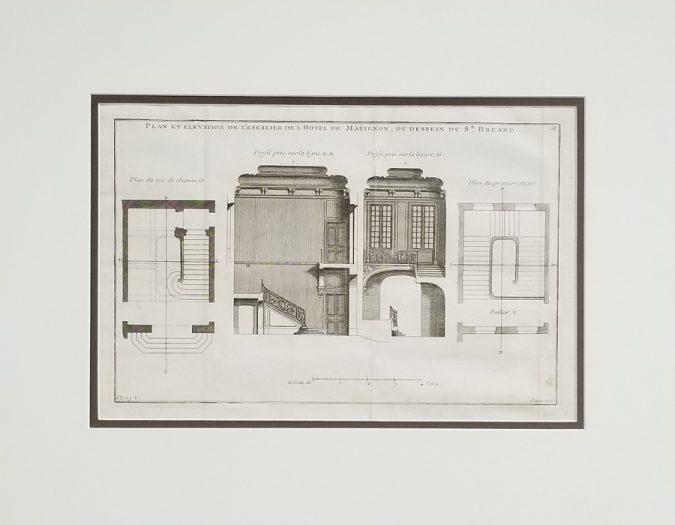19c Antique Architectural Engraving