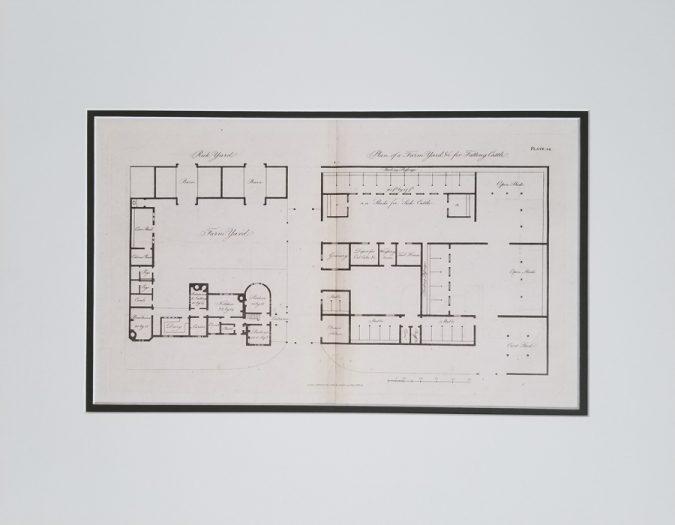 Antique Architectural Engraving Print
