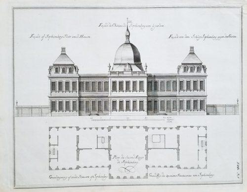 18c Antique Architectural Engraving Print