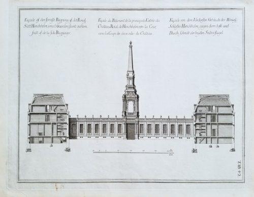 Fine Antique Architectural Engraving 18c