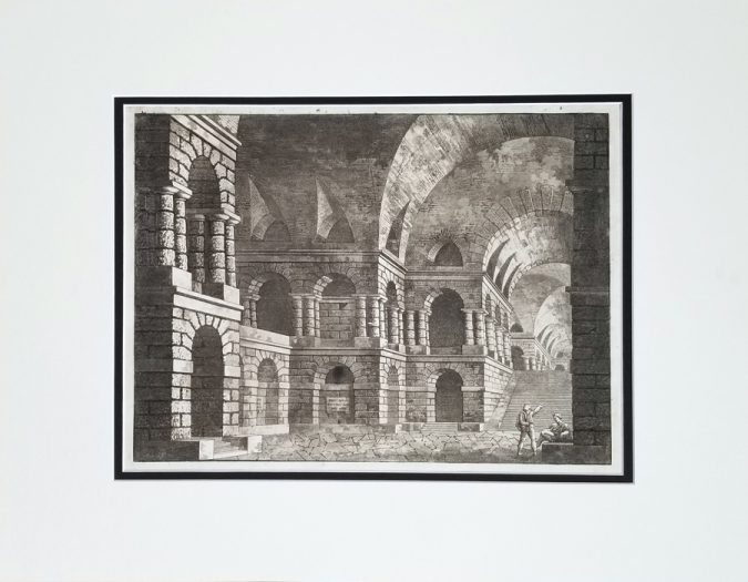 Fine Antique Architectural Etching and Aquatint