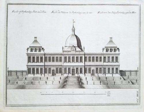 18c Fine Antique Architectural Engraving