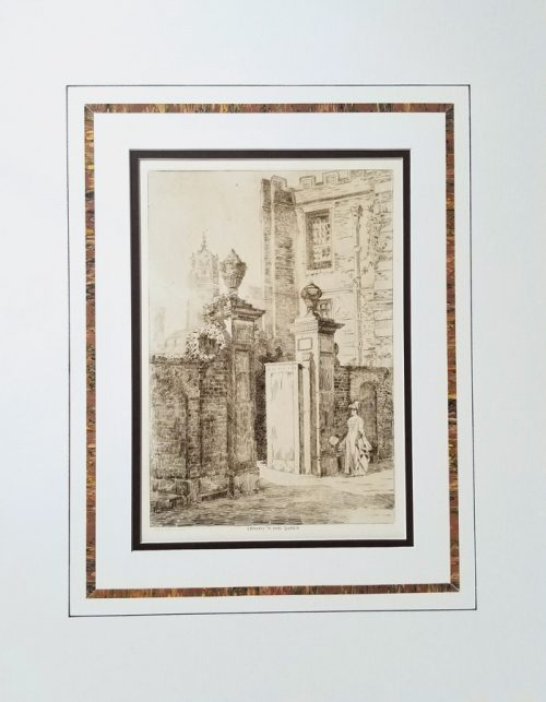 Antique Architectural Etchings Prints