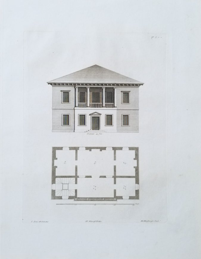 Antique Architectural Engraving Print