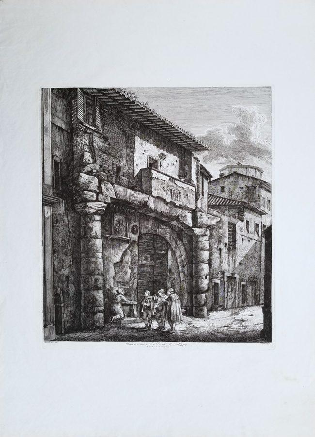 Rare Architecture Antique Engraving