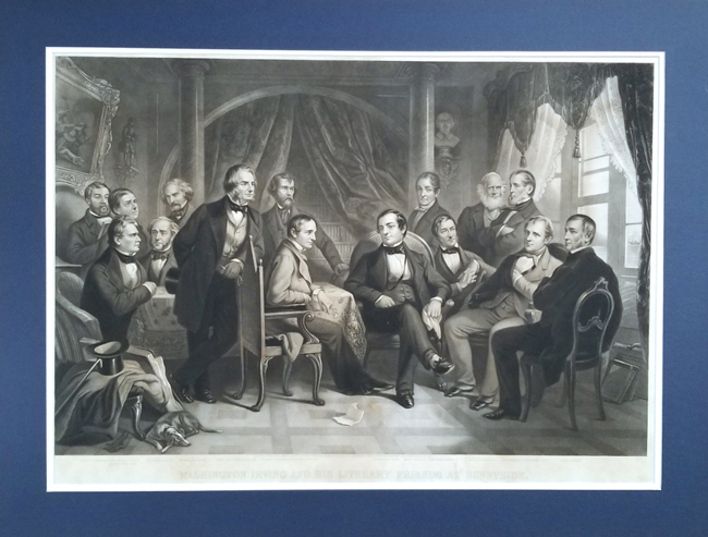 Barlow, Thomas Oldham (1824-1889) Washington Irving and His Literary Friends at Sunnyside